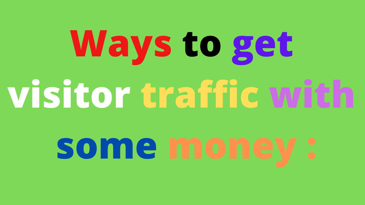 How Do I Bring Traffic To My Website ?